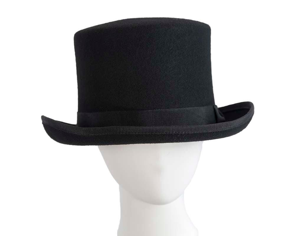 Black felt top hat by Cupids Millinery Melbourne