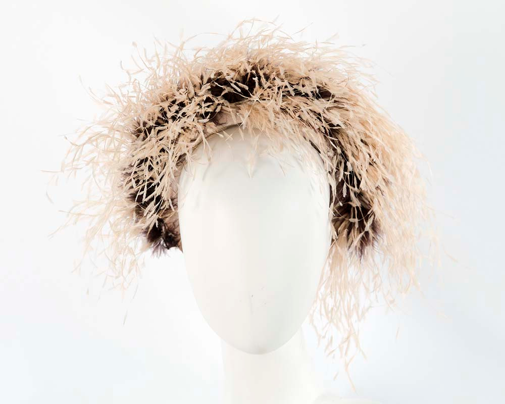 Bespoke headband with ostrich feathers by Cupids Millinery