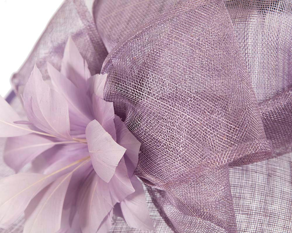 Large Lilac Ladies Fashion Racing Hat by Cupids Millinery