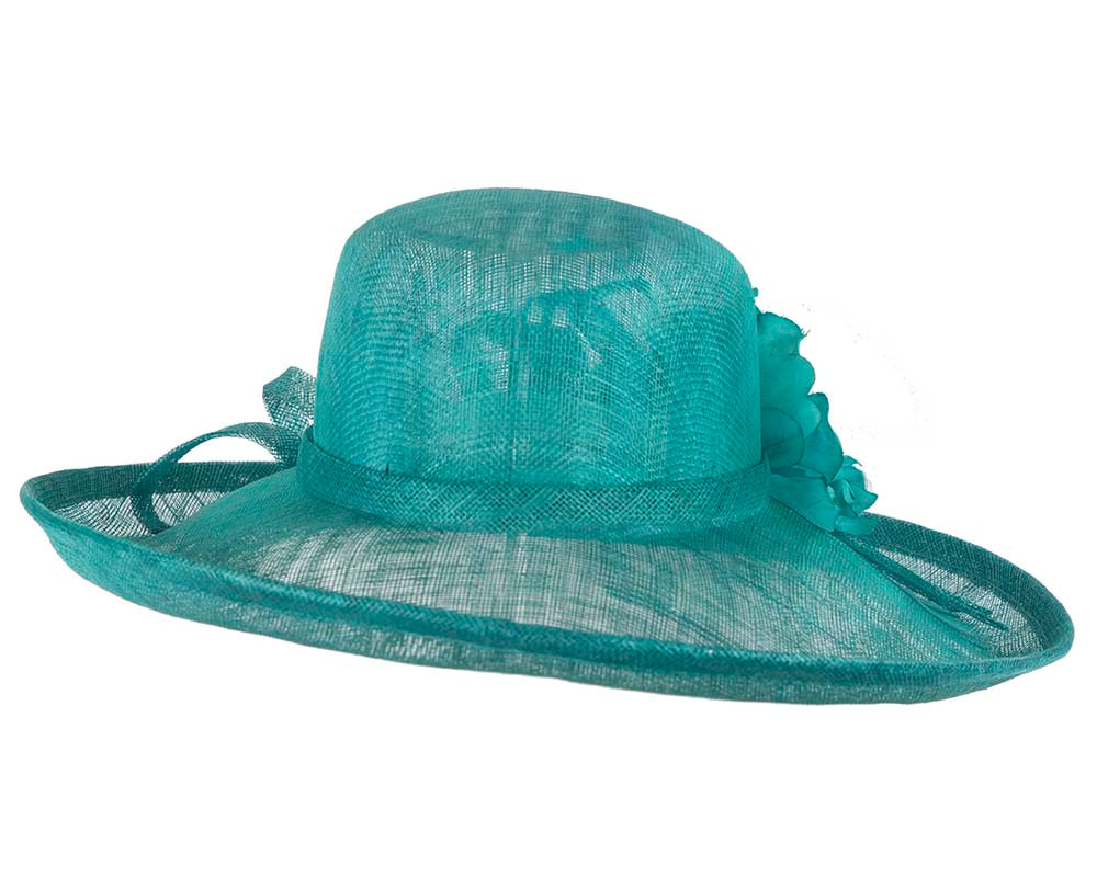 Large Green Ladies Fashion Racing Hat by Cupids Millinery