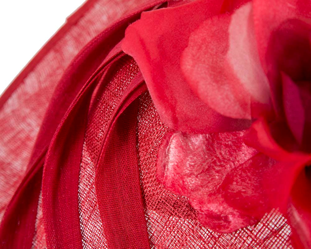 Large red plate racing fascinator by Fillies Collection