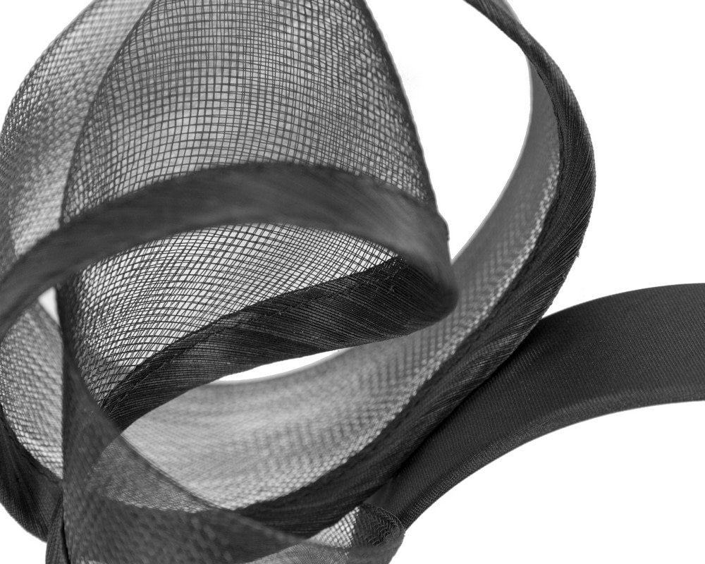 Sculptured black racing fascinator by Fillies Collection