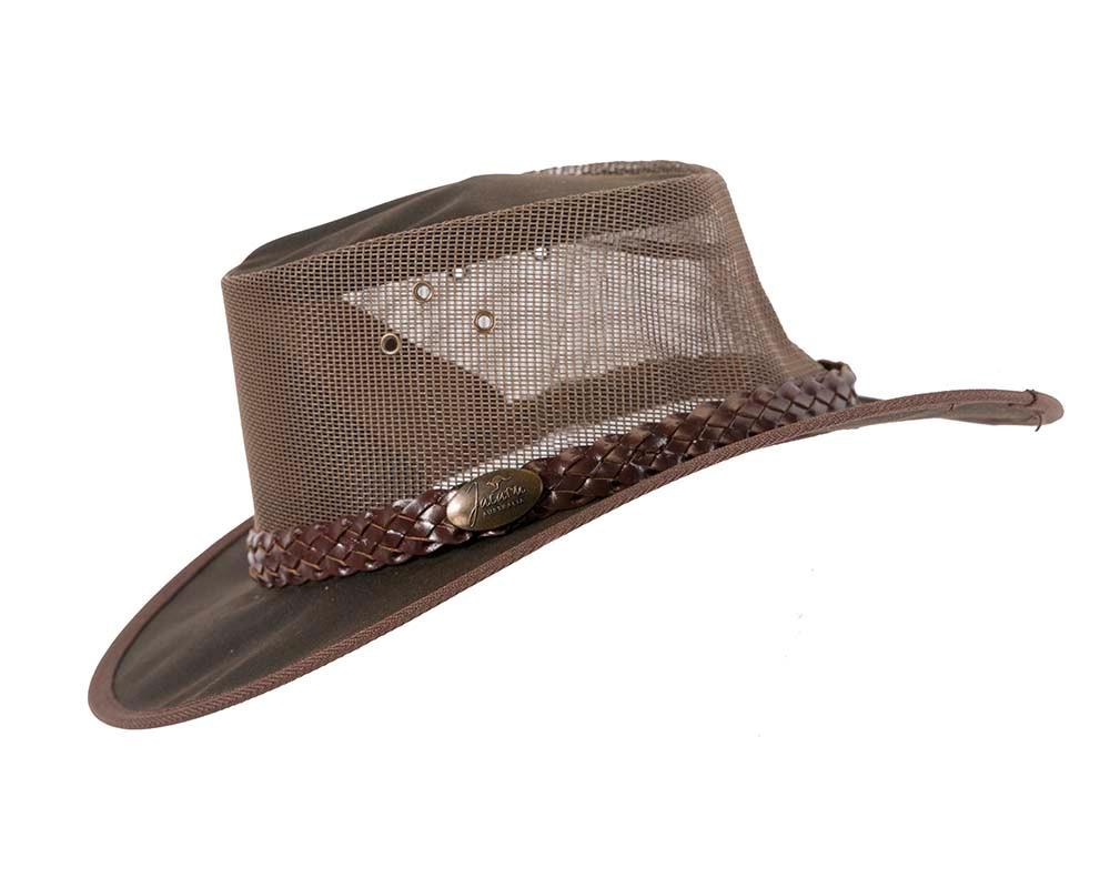Brown Australian Kangaroo Leather Cooler Jacaru Hat