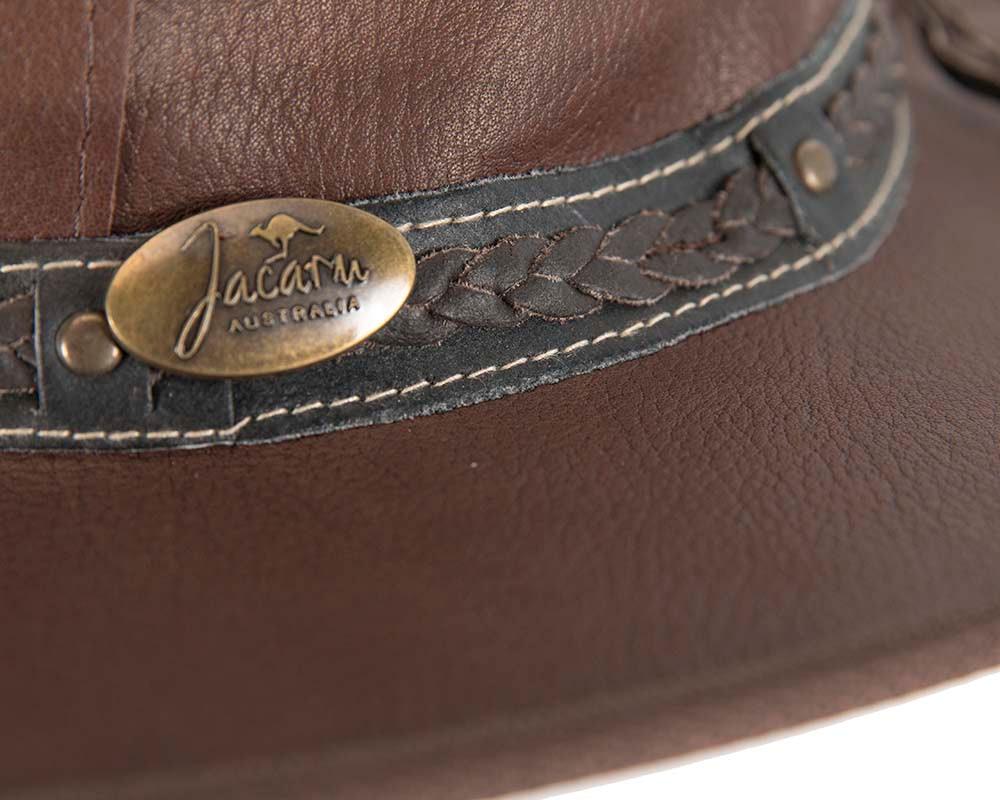 Australian Kangaroo Leather Crushable Outback Jacaru Hat