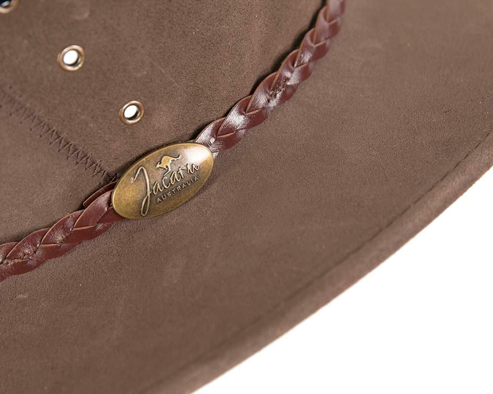 Brown Australian Leather Bush Outback Jacaru Hat
