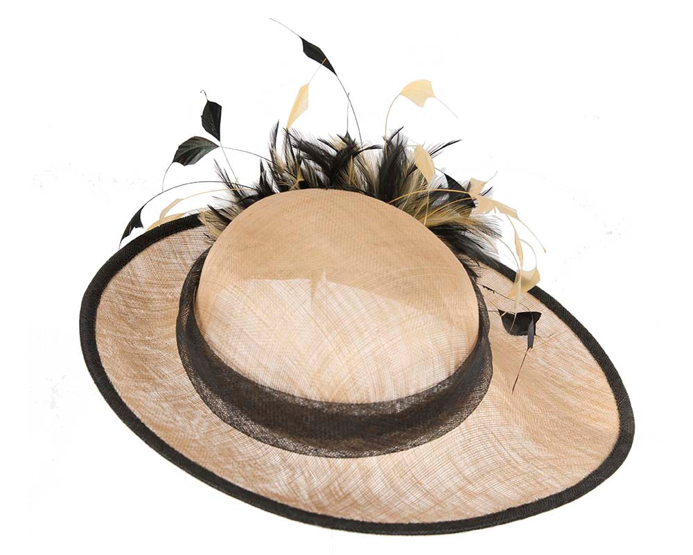 Nude spring racing hats with feathers by Cupids Millinery
