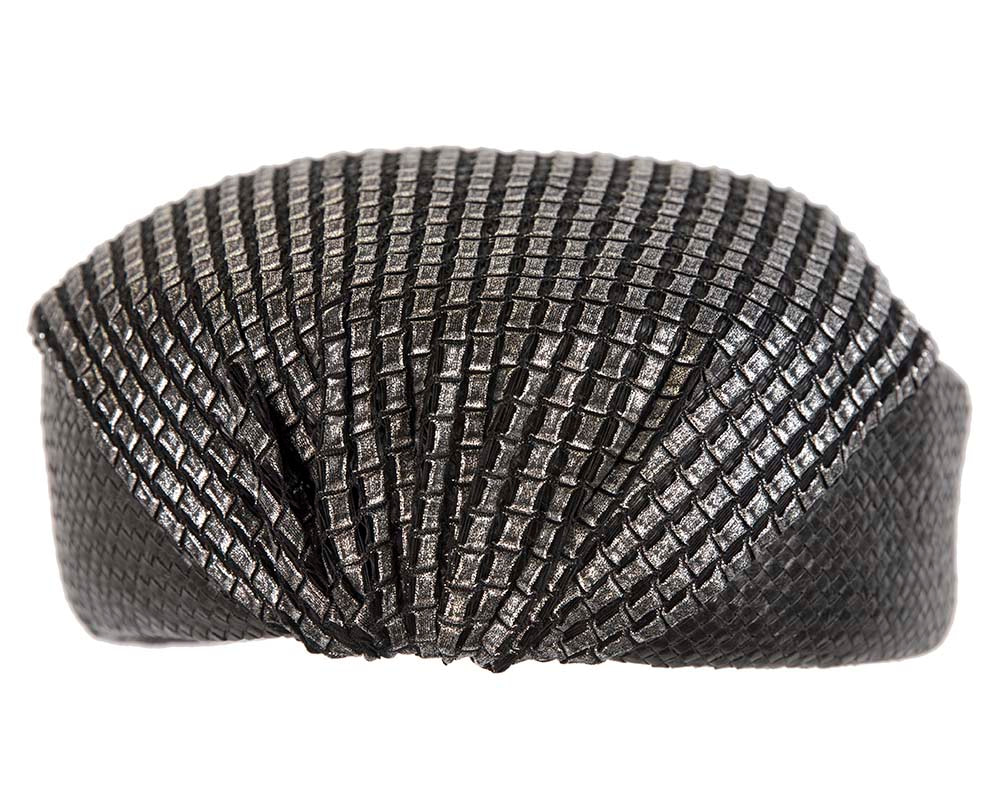 Black draped beret hat by Cupids Millinery Melbourne