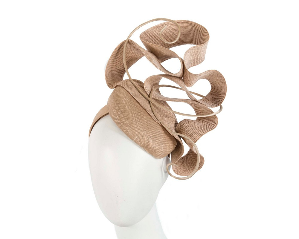 Nude designers racing fascinator by Fillies Collection