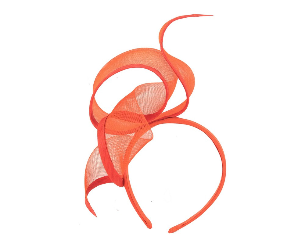 Sculptured orange racing fascinator by Fillies Collection