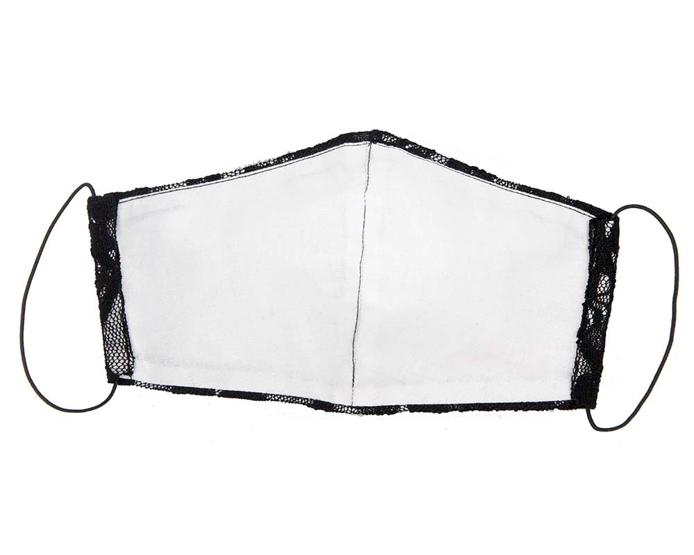 Comfortable re-usable face mask with black lace