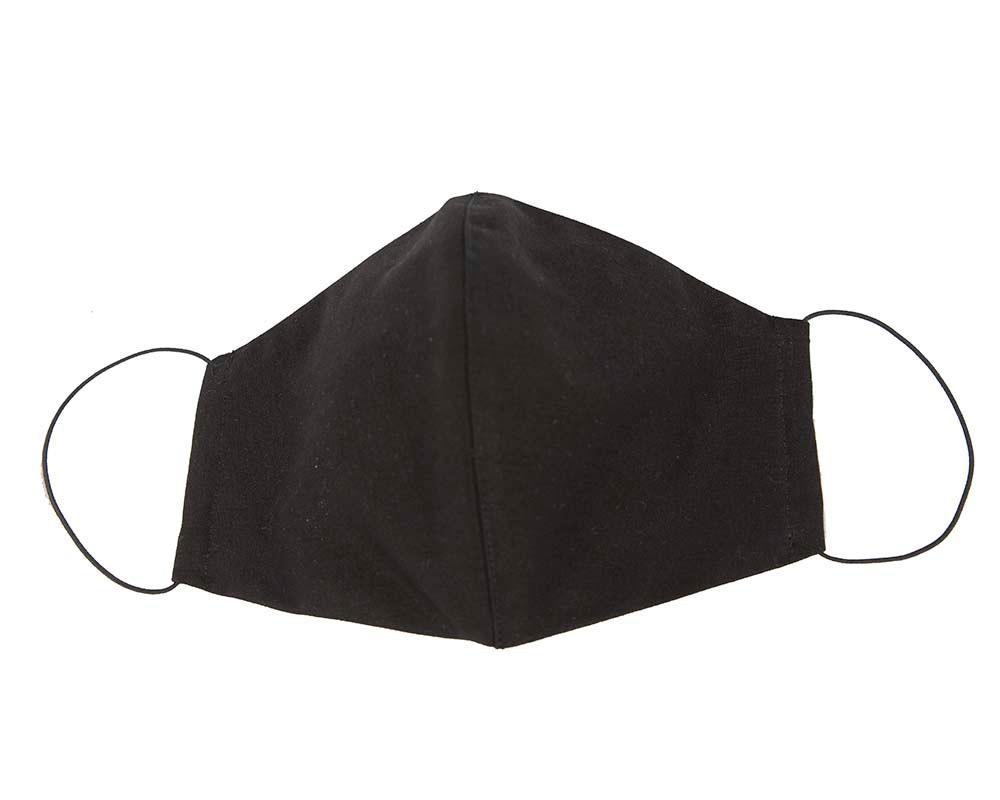 Comfortable re-usable face mask black cotton