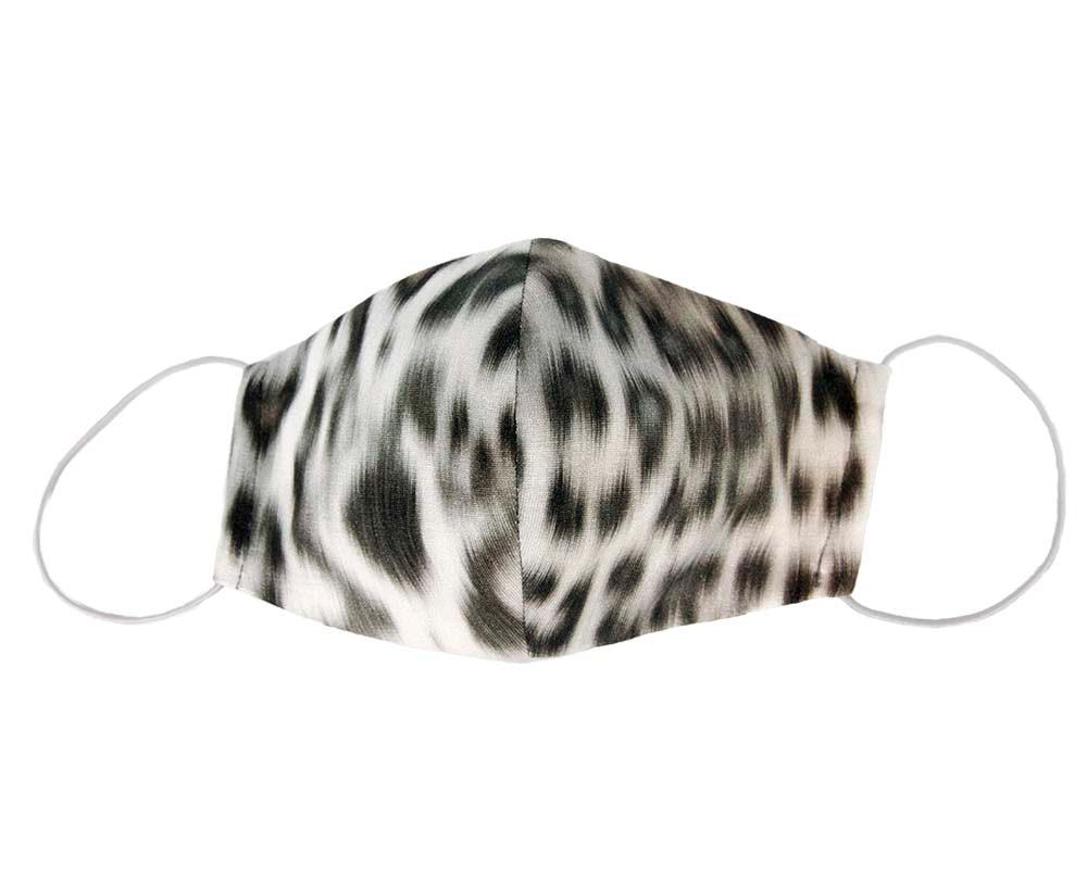 Comfortable re-usable face mask cotton jersey leopard print
