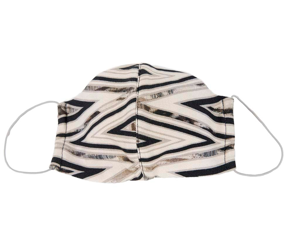 Comfortable re-usable face mask abstract print