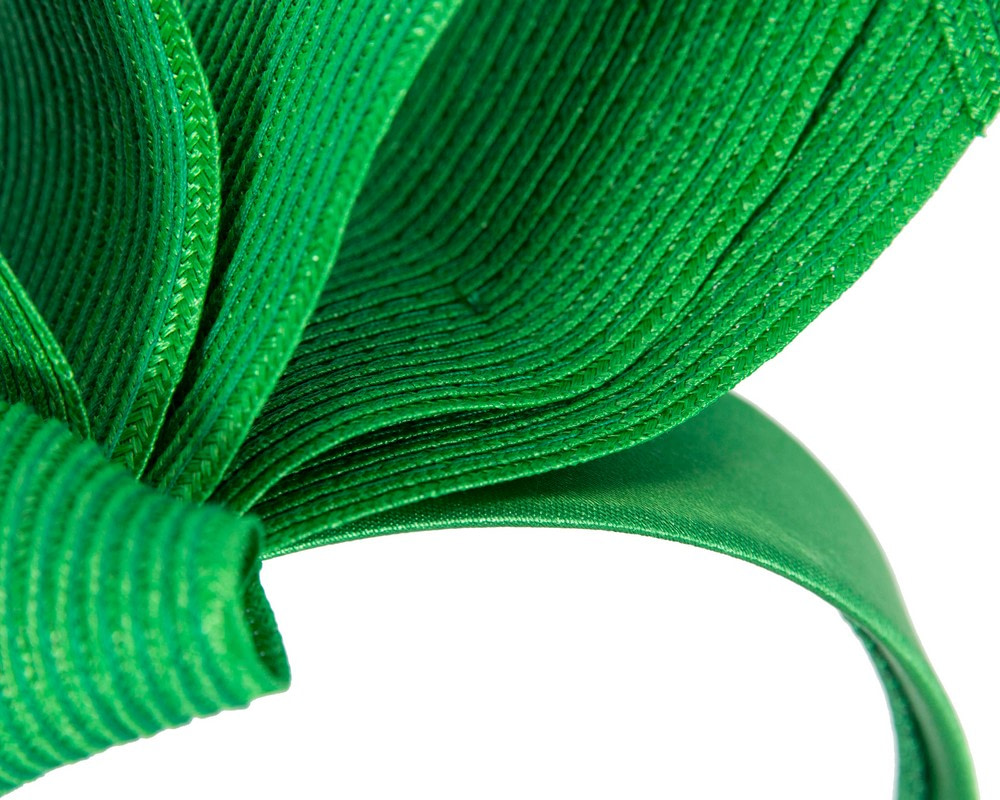 Large green bow racing fascinator by Max Alexander
