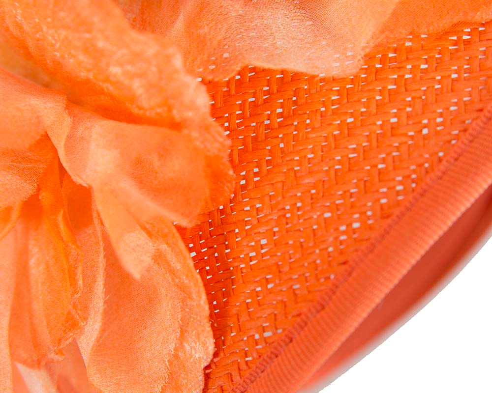 Orange Melbourne Cup races fascinator by Fillies Collection
