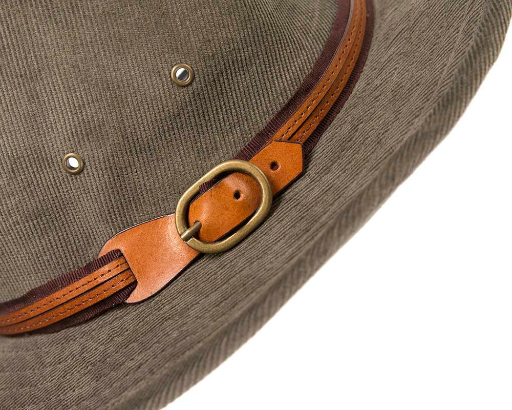 Charcoal corduroy Sheriff's Hat