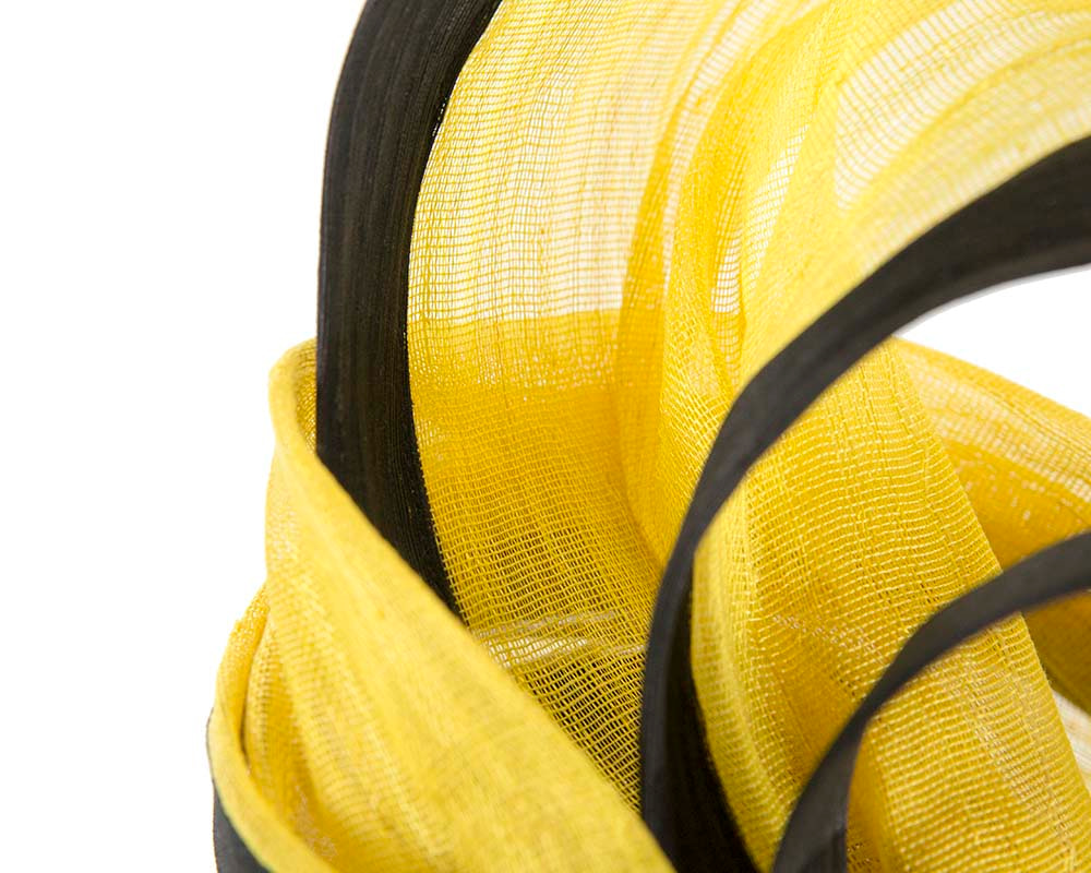 Exclusive yellow & black tall fascinator for Melbourne Cup races S159YB