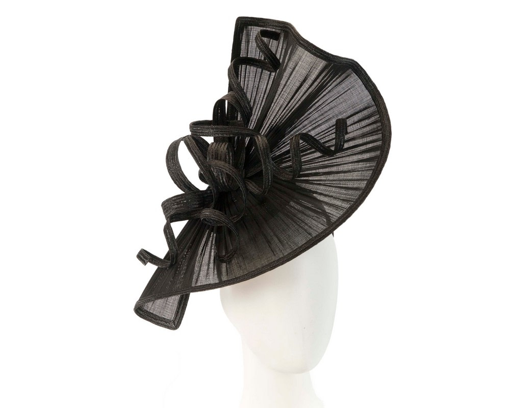 Large black jinsin racing fascinator by Fillies Collection