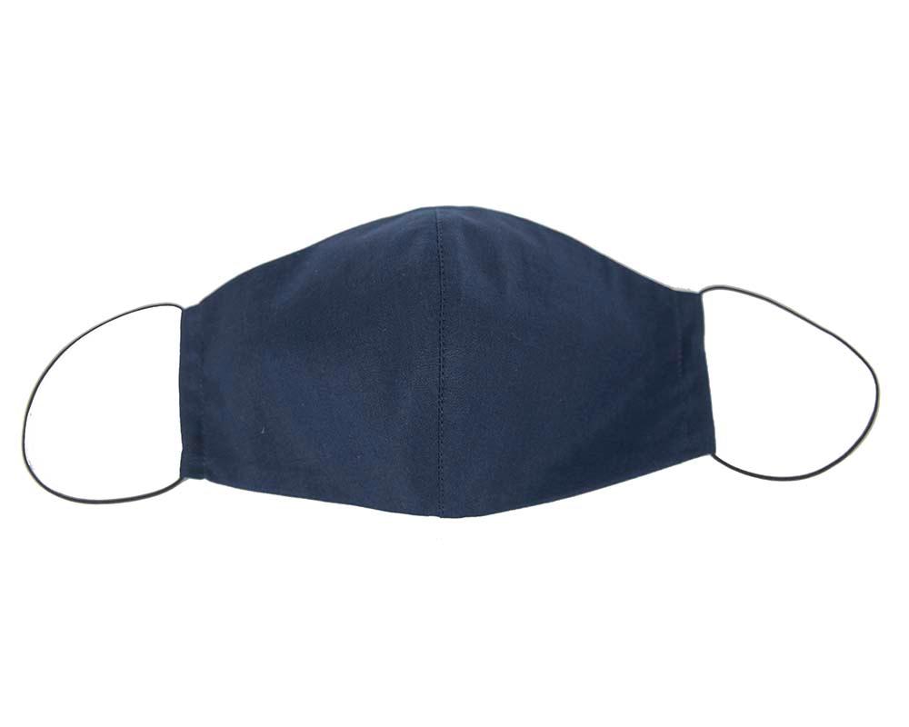 Comfortable re-usable navy cotton face mask