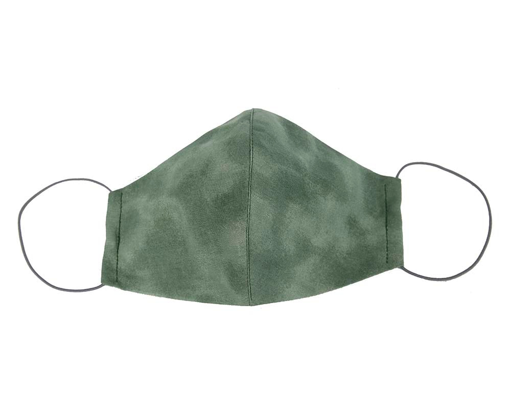Comfortable re-usable cotton face mask with shades of green
