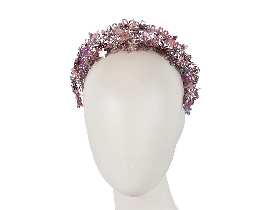 Bespoke lilac designers fascinator headband by Cupids Millinery