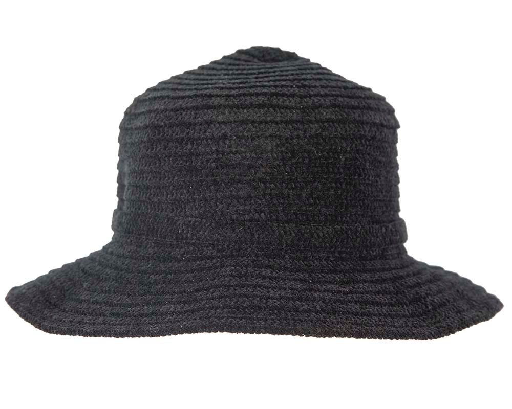 Soft black bucket hat