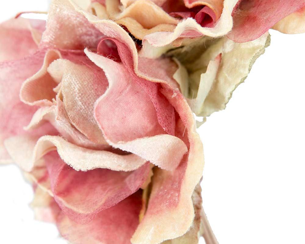 Pink flower headband fascinator by Max Alexander
