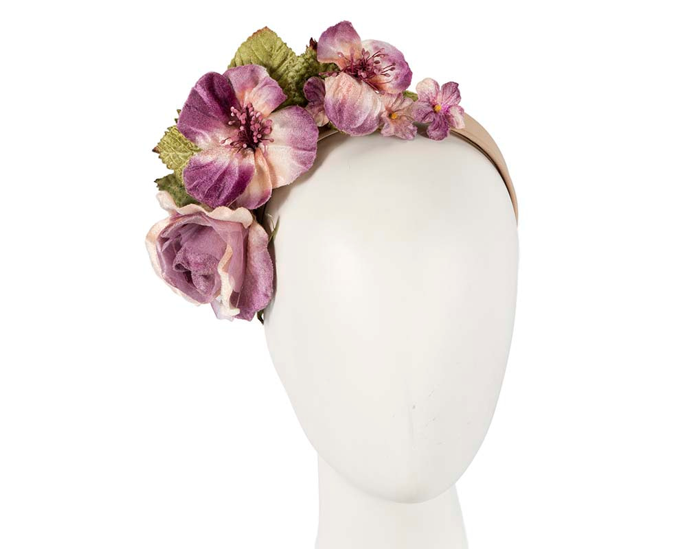 Lilac flower headband fascinator by Max Alexander