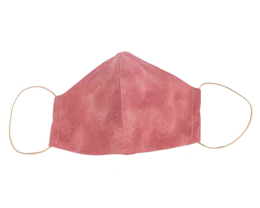 Comfortable re-usable cotton face mask with shades of pink