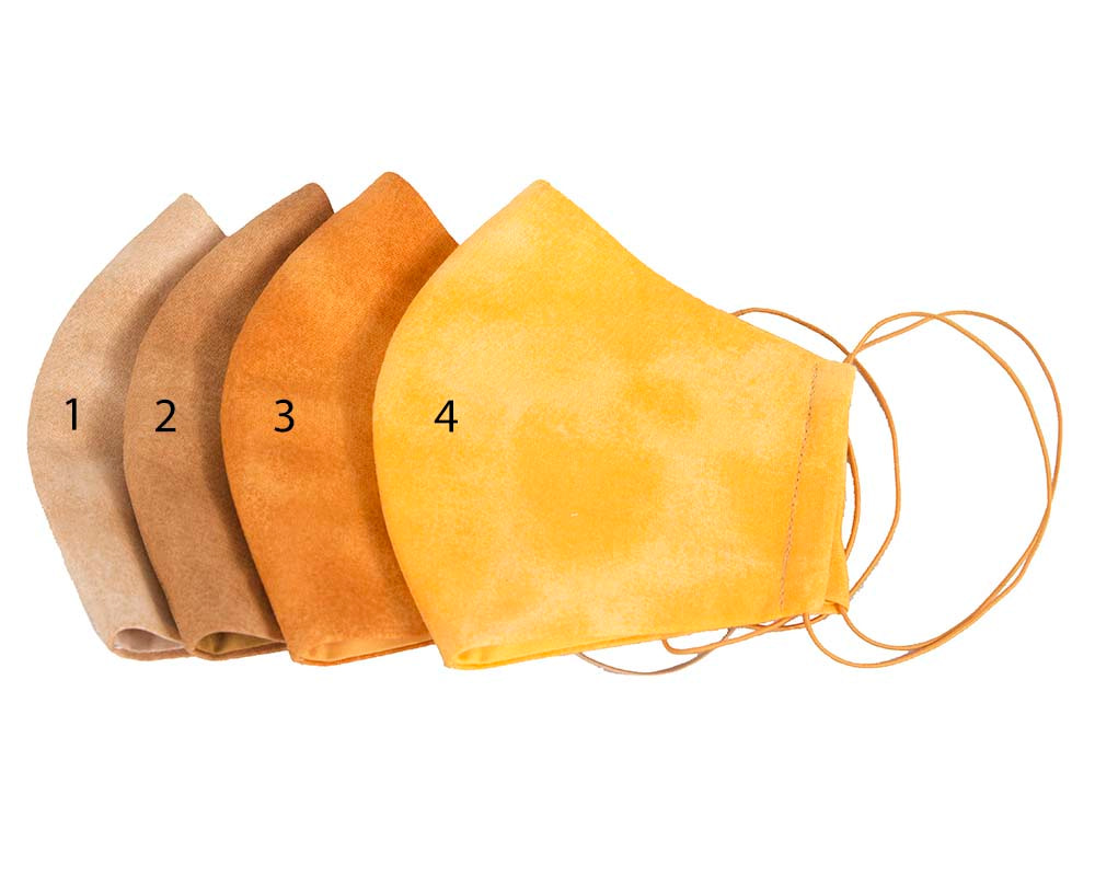 Comfortable re-usable cotton face mask with shades of yellow