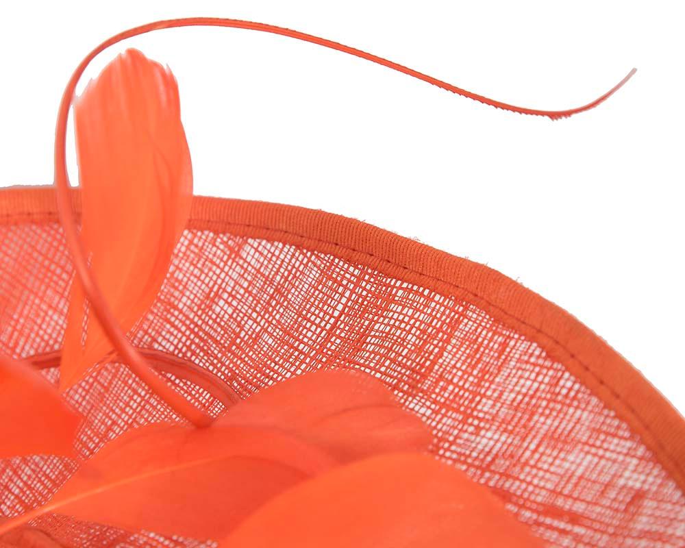 Large orange fascinator by Cupids Millinery