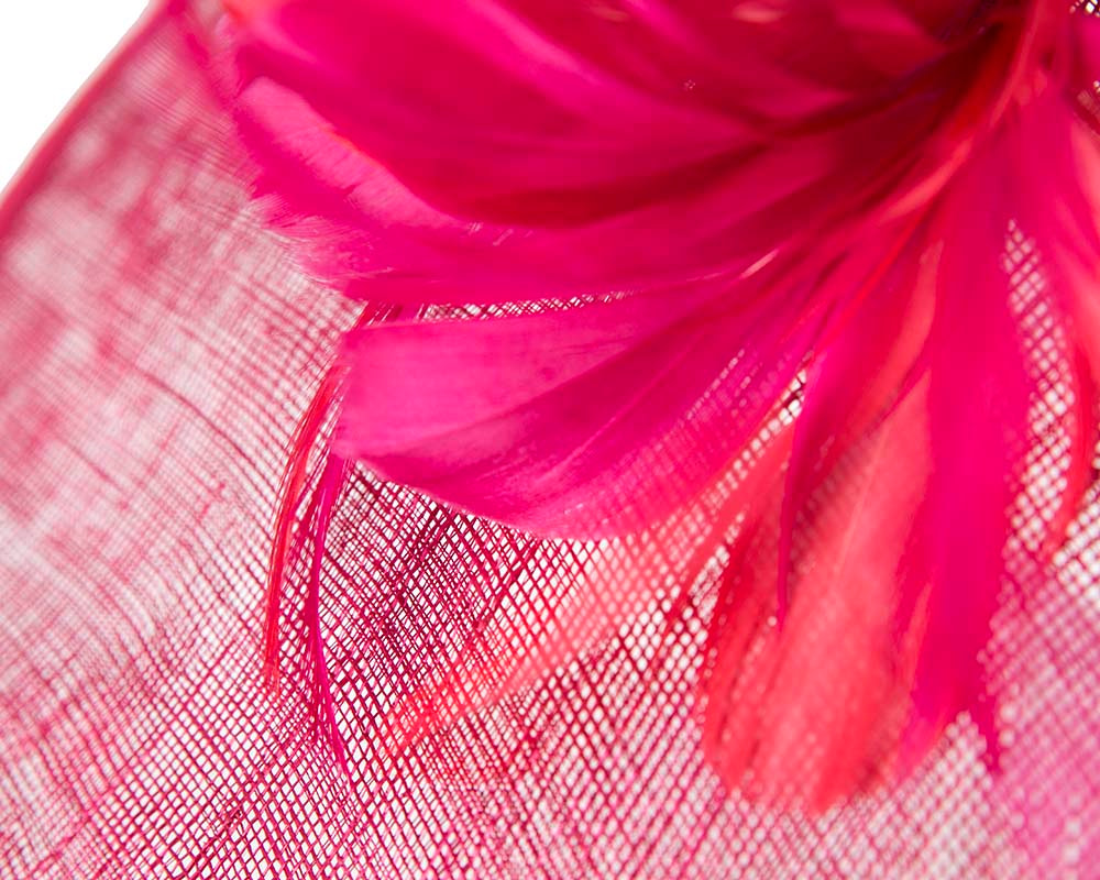Large fuchsia fascinator by Cupids Millinery