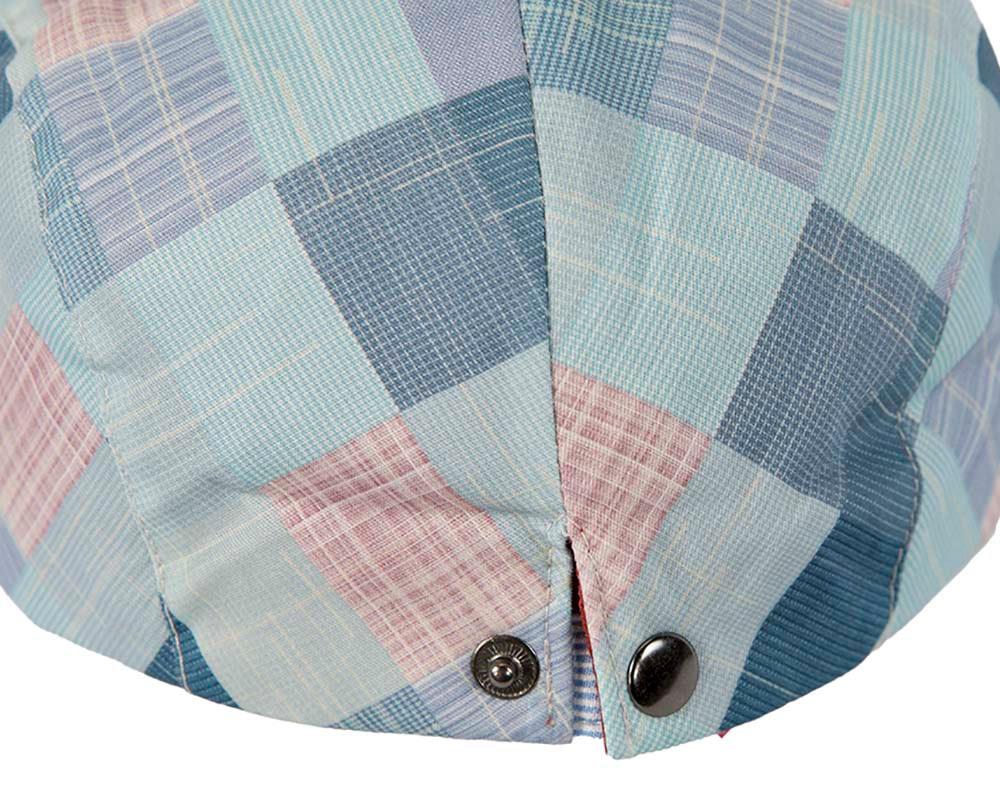 Soft patchwork flat cap by Max Alexander
