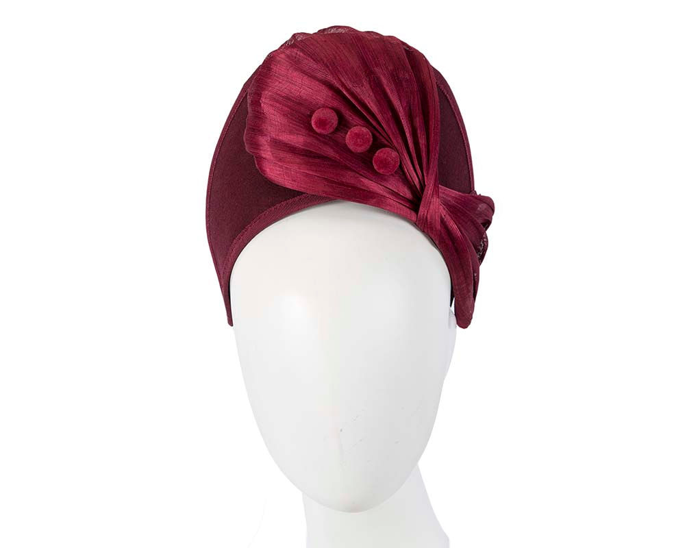 Burgundy wine crown winter fascinator by Fillies Collection