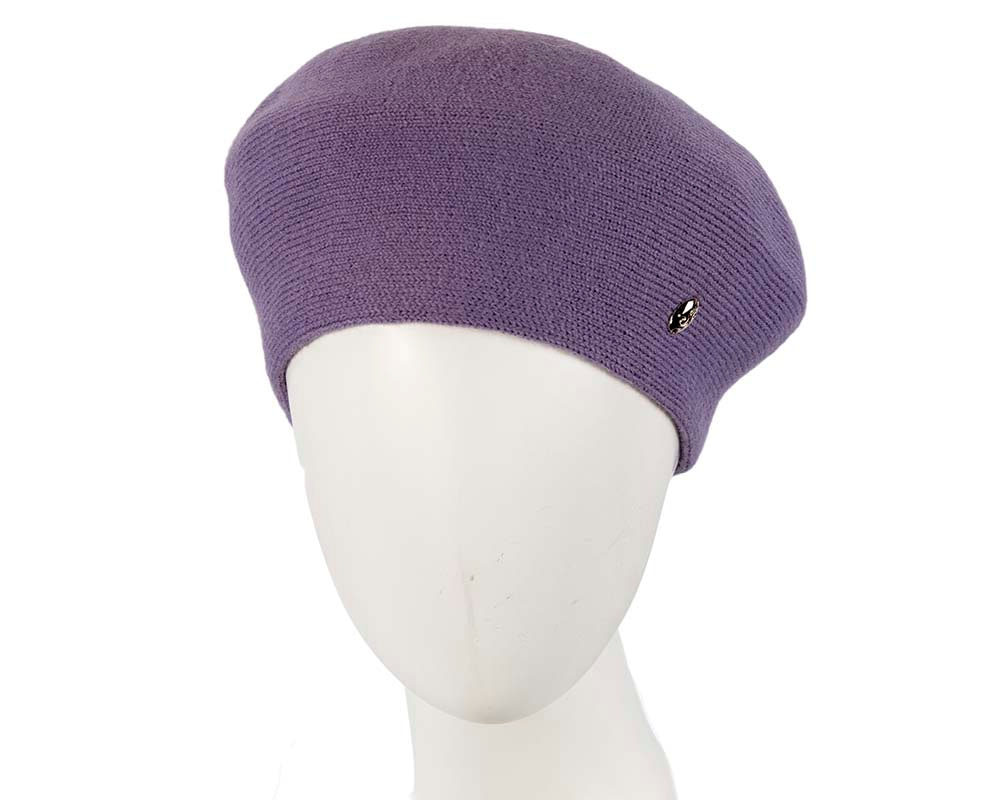 Classic woven purple beret by Max Alexander