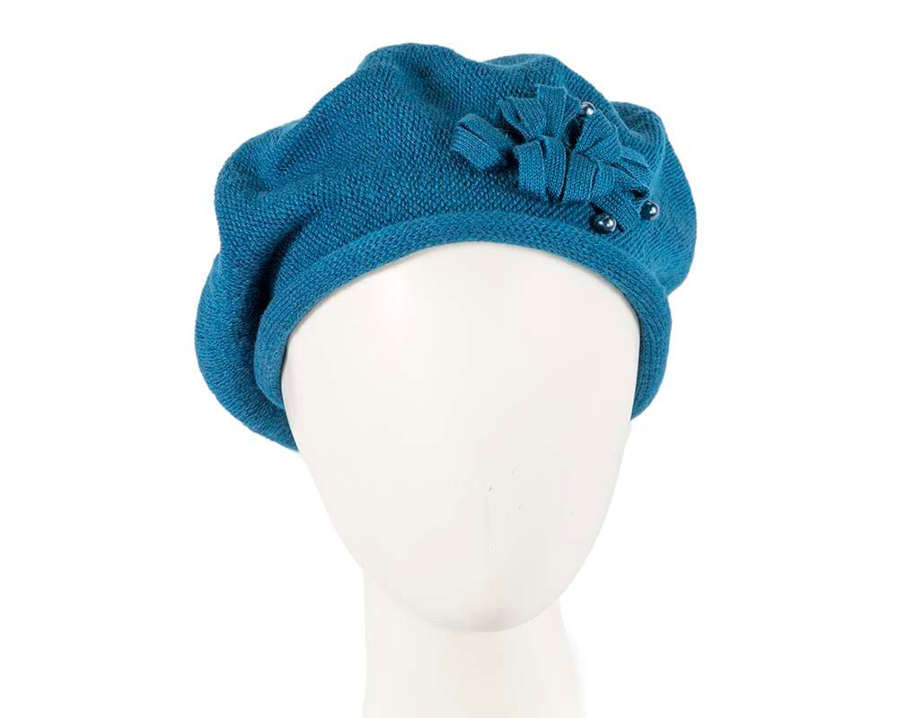 Woolen woven blue beret by Max Alexander