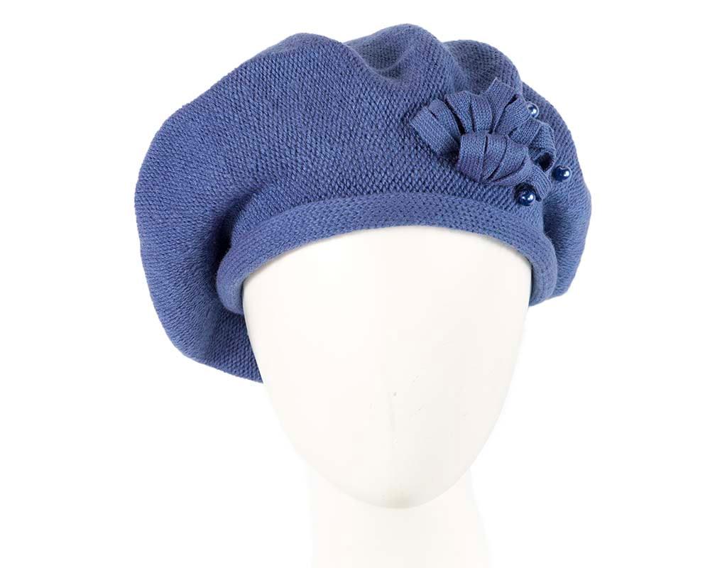 Woolen woven violet beret by Max Alexander