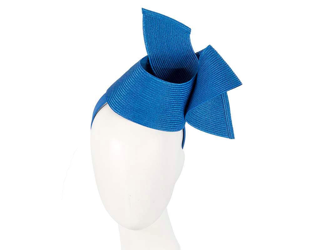 Modern royal blue fascinator by Max Alexander