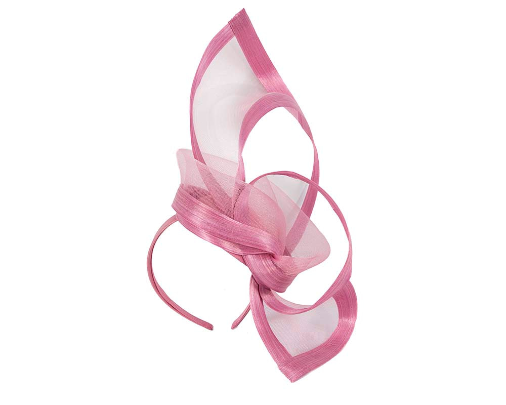 Dusty Pink edgy racing fascinator by Fillies Collection