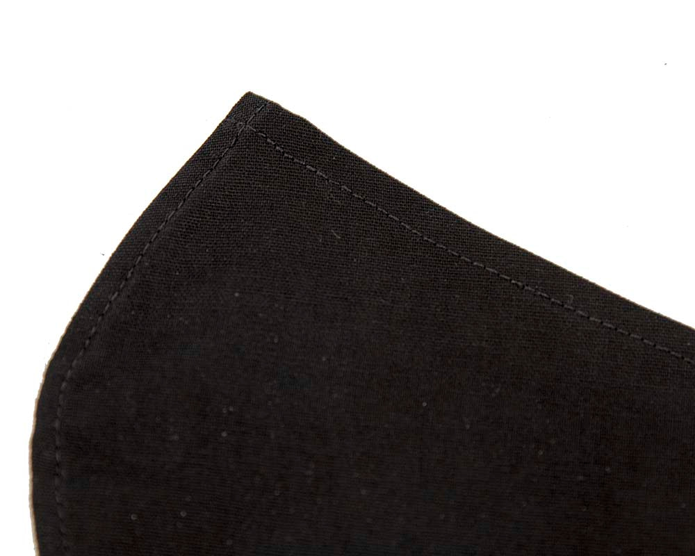 Easy-to-breathe SINGLE layer black cotton face mask