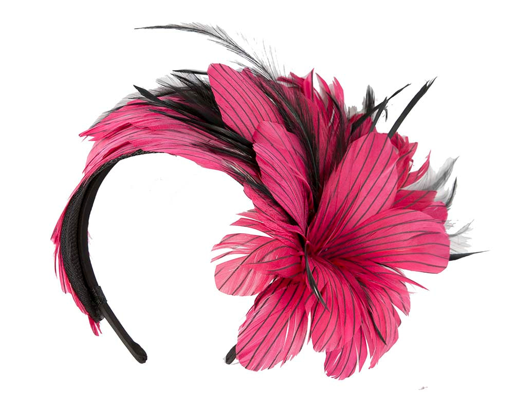 Bespoke feather fascinator by Cupids Millinery Melbourne