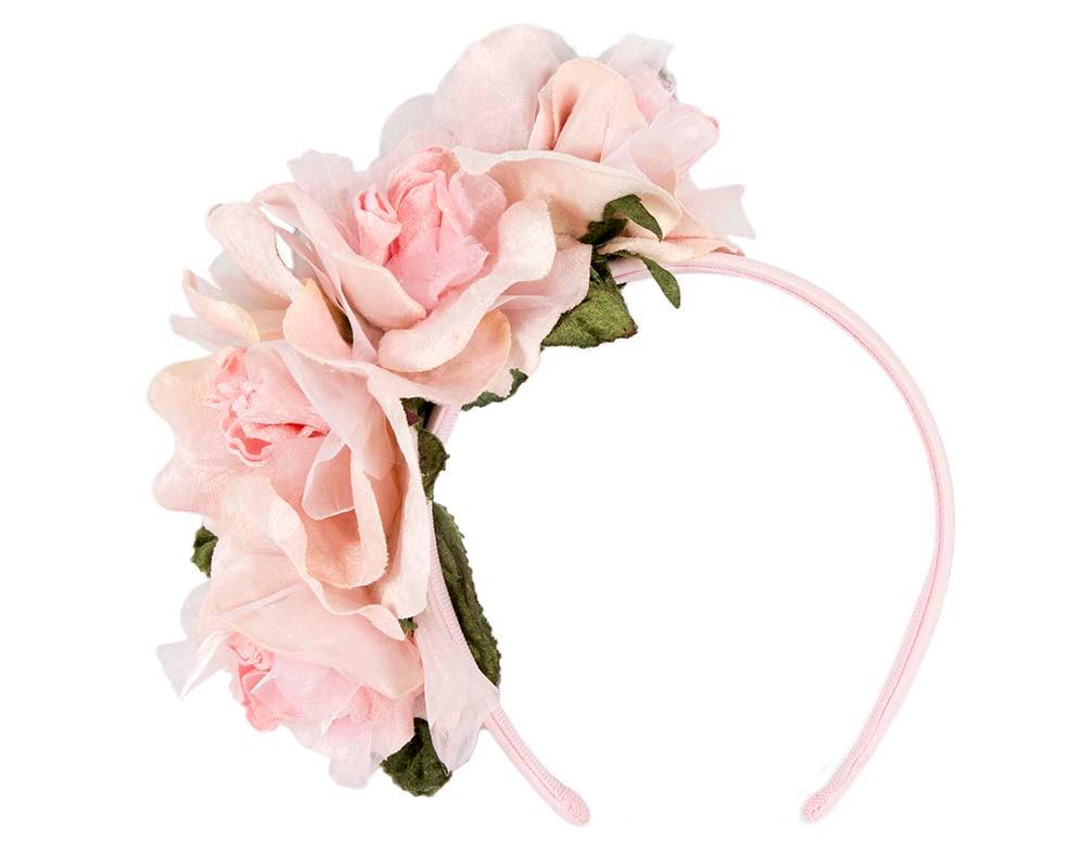 Blush flower headband fascinator by Max Alexander
