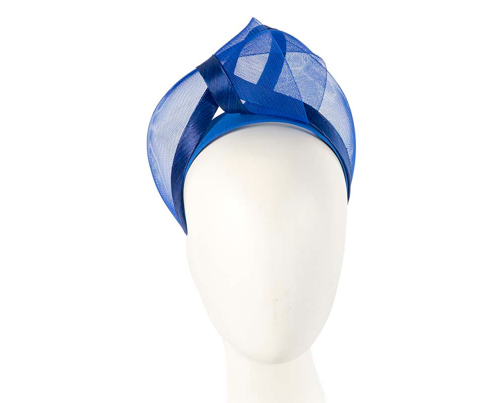 Royal blue fashion headband turban by Fillies Collection