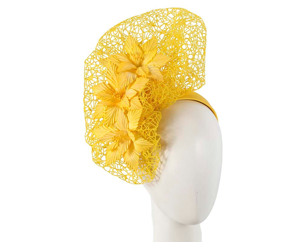 Staggering yellow racing fascinator by Fillies Collection