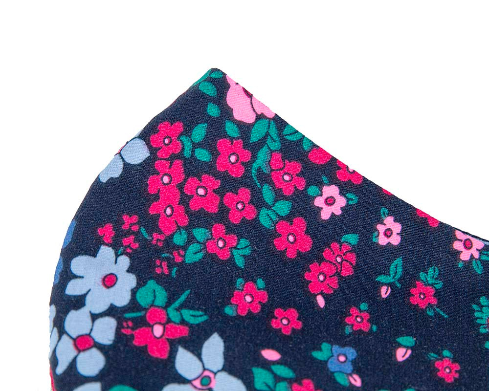 Comfortable re-usable cotton face mask flowers