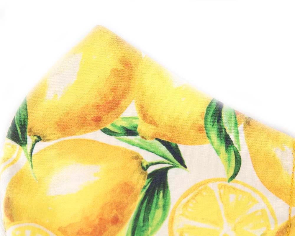 Comfortable re-usable cotton face mask lemons