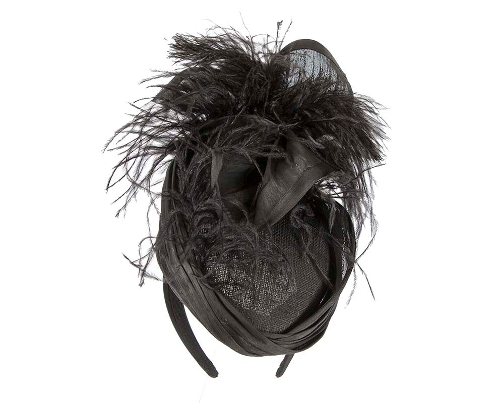 Exclusive black fascinator оstriсh feathers