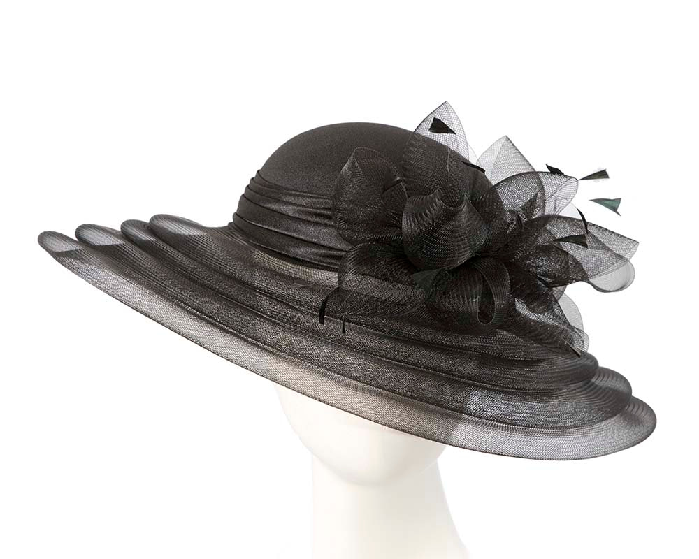 Black Mother of the Bride Hat custom made to order (any color)