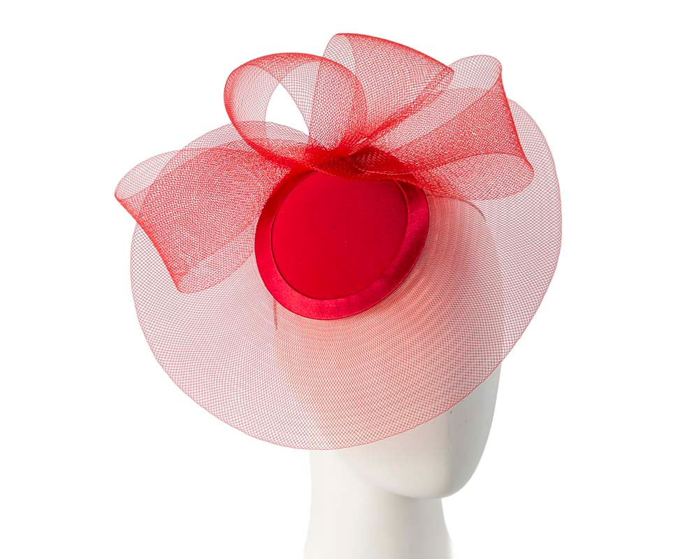 Red Custom Made Fashion Cocktail Hat