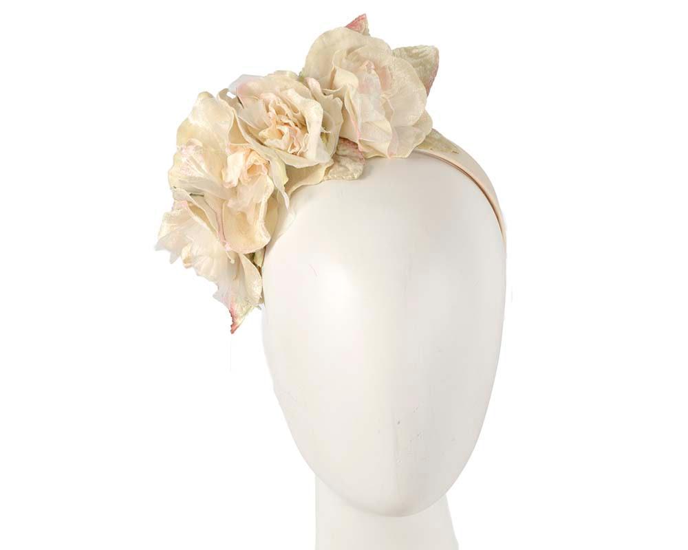 Cream flower headband fascinator by Max Alexander